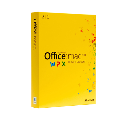 Office Mac Home Student 2011 EN DVD 1PK GZA-00136
