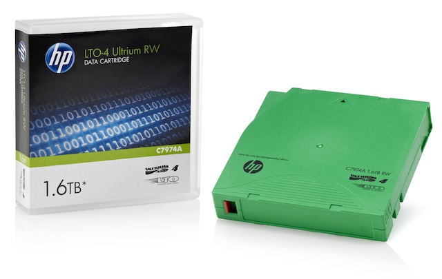 HP LTO4 Ultrium 1.6TB RW Data Tape (C7974A)