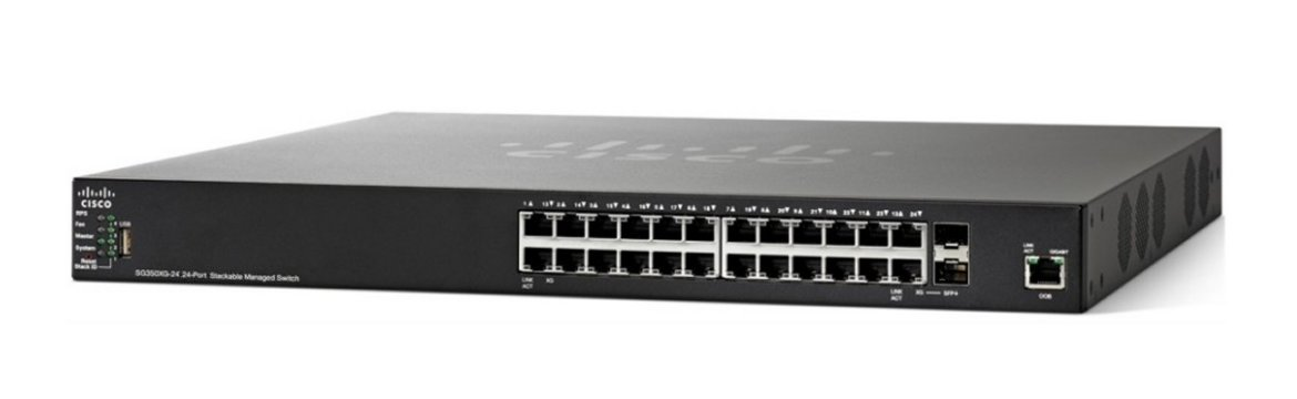 Thiết bị mạng Switch Cisco SF350-24P 24-port 10/100 POE Managed Switch