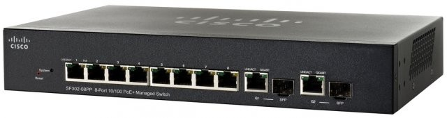 Thiết bị mạng Switch Cisco SF352-08MP 8-port 10/100 Max-POE Managed Switch