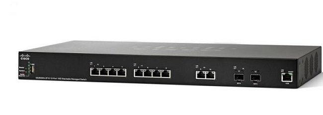 Thiết bị mạng 12-Port 10GBase-T Stackable Managed Switch CISCO SG350XG-2F10-K9-EU