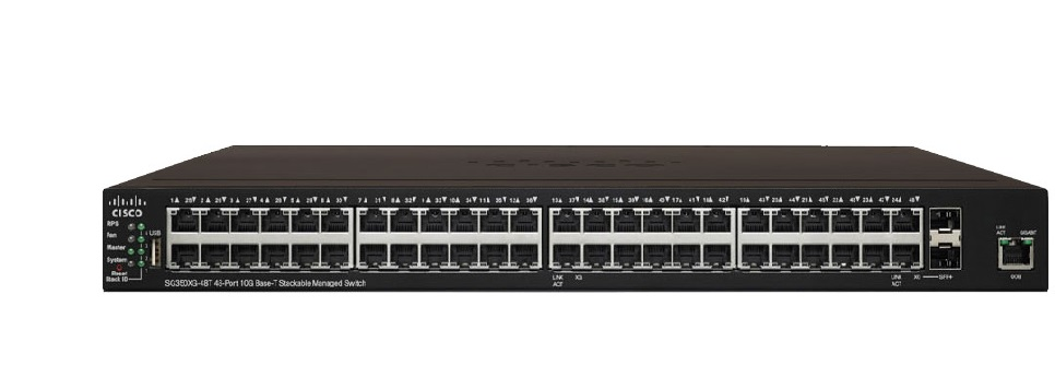 Thiết bị mạng 48-Port 10GBase-T Stackable Managed Switch CISCO SG350XG-48T-K9-EU
