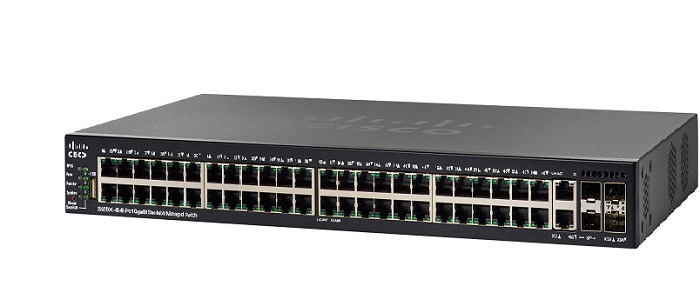 Thiết bị mạng 48-Port Gigabit PoE Stackable Managed Switch CISCO SG550X-48MP-K9-EU